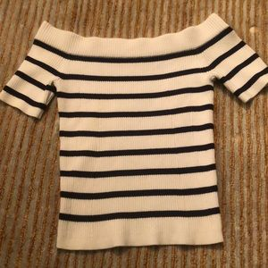 Club Monaco Off the Shoulder Striped Top XS